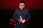 """Wang Rui, November 05, 2019 - Wang Rui, speak after winning """"Award for Best Artistic Conrtribution"""" for the film """"Chaogtu with Sarula""""during the 32nd Tokyo International Film Festival, award ceremony, in Tokyo, Japan on November 05, 2019. (Photo by 2019 TIFF/AFLO)"""