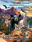 Howard, REALISTIC ANIMALS, REALISTISCHE TIERE, ANIMALES REALISTICOS, paintings+++++,GBHRPROV148V,#a#, EVERYDAY ,National Parks ,puzzles