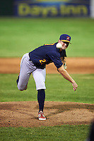 State College Spikes relief pitcher Greg Tomchick (27) delivers a pitch during a game against the Batavia Muckdogs on June 23, 2016 at Dwyer Stadium in Batavia, New York.  State College defeated Batavia 8-4.  (Mike Janes/Four Seam Images)