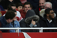 A fan gives the thumbs up after being hit by the ball from close range in the first half during Arsenal vs Rennes, UEFA Europa League Football at the Emirates Stadium on 14th March 2019