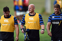 Matt Garvey of Bath Rugby looks on. Bath Rugby pre-season training on August 8, 2018 at Farleigh House in Bath, England. Photo by: Patrick Khachfe / Onside Images