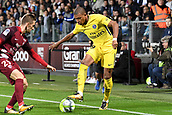 September 8th 2017, Stade Saint-Symphorien, Metz, France; French League 1 football, Metz versus Paris St Germain;  KYLIAN MBAPPE (psg) takes on Balliu