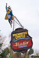 Superman sign at the Enchanted Castle Studio in Natural Bridge Virginia