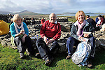 Hundreds of walkers donned their hiking boots and headed to the hills around Mount Brandon in West Kerry for the Dingle Walking Festival over the weekend. Our photograph shows Carmel and George Gorman, Midleton and Olive Crowley, Cork taking a well earned break on Sunday..Picture by Don MacMonagle