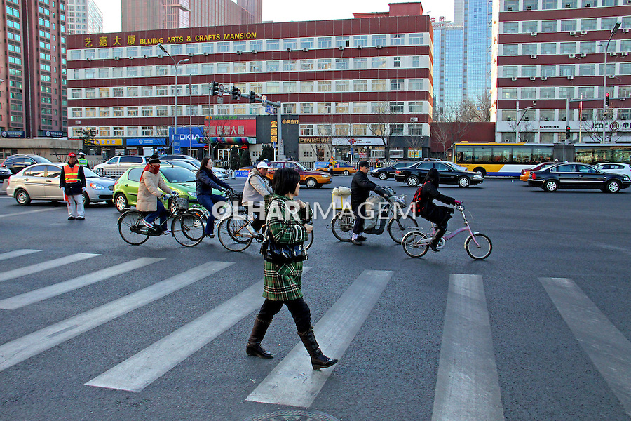 Faixa de pedestres em Pequim. China. 2011. Foto de Flávio Bacellar.