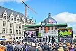 Vital Concept-B&B Hotels at the team presentation before the start of the 105th edition of Liège-Bastogne-Liège 2019, La Doyenne, running 256km from Liege to Liege, Belgium. 27th April 2019<br /> Picture: ASO/Gautier Demouveaux | Cyclefile<br /> All photos usage must carry mandatory copyright credit (© Cyclefile | ASO/Gautier Demouveaux)