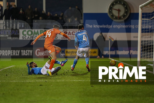 GOAL - Harry Cornick of Luton Town (14) scores his team's fourth goal during the Sky Bet League 1 match between Luton Town and Bradford City at Kenilworth Road, Luton, England on 27 November 2018. Photo by David Horn.