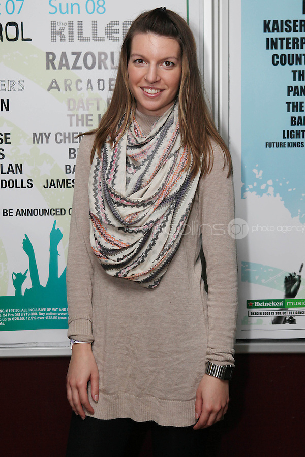 NO REPRO FEE. OXYGEN 2011 LAUNCH. Pictured at the Academy, Dublin for the launch of Oxygen 2011 is Dunja Lugaric . The three day music festival which takes place July 8th, 9th, 10th at Punchestown Racecourse, Naas, Co Kildare. Picture James Horan/Collins Photos
