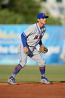 St. Lucie Mets shortstop Andres Gimenez (12) during a game against the Florida Fire Frogs on April 19, 2018 at Osceola County Stadium in Kissimmee, Florida.  St. Lucie defeated Florida 3-2.  (Mike Janes/Four Seam Images)
