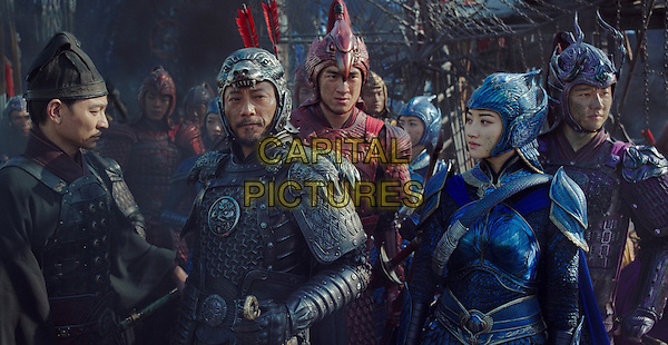 The Great Wall (2016)<br /> (L to R, foreground) ANDY LAU as Strategist Wang, HANYU ZHANG as General Shao, KENNY LIN as Commander Chen, JING TIAN as Commander Lin Mae and XUAN HUANG as Commander Deng<br /> *Filmstill - Editorial Use Only*<br /> CAP/FB<br /> Image supplied by Capital Pictures