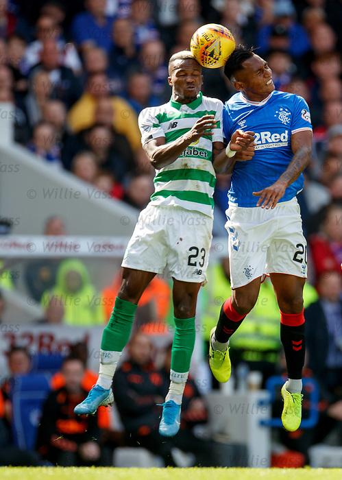 01.09.2019 Rangers v Celtic: Boli Bolingoli and Alfredo Morelos
