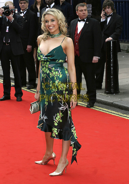 LARA LEWINGTON.Arrivals at the Pioneer British Academy Television Awards (TV BAFTA's), Theatre Royal, Drury Lane, .London, April 17th 2005..full length green patterned printed floral dress.Ref: AH.www.capitalpictures.com.sales@capitalpictures.com.©Adam Houghton/Capital Pictures.