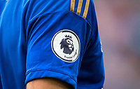Detail of PL shirt sleeve badge during the Premier League match between Leicester City and Wolverhampton Wanderers at the King Power Stadium, Leicester, England on 10 August 2019. Photo by Andy Rowland.