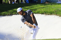 Alexander Levy (FRA) chips from a bunker at the 10th green during Thursday's Round 1 of the 2018 Turkish Airlines Open hosted by Regnum Carya Golf &amp; Spa Resort, Antalya, Turkey. 1st November 2018.<br /> Picture: Eoin Clarke | Golffile<br /> <br /> <br /> All photos usage must carry mandatory copyright credit (&copy; Golffile | Eoin Clarke)