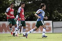 SÃO PAULO, SP, 11 JANEIRO DE 2013  - TREINO PALMEIRAS - Os jogadores Barcos e Valdivia durante treinamento na Academia de Futebol, na manha dessa sexta-feira, 11, Barra Funda, zona oete  da capital -   FOTO LOLA OLIVEIRA - BRAZIL PHOTO PRESS