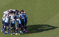 Wycombe Wanderers pre match team huddle during the Sky Bet League 2 match between Wycombe Wanderers and Mansfield Town at Adams Park, High Wycombe, England on 25 March 2016. Photo by Andy Rowland.