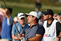 Francesco Molinari (ITA) tees off on the 17th hole during the first round of the 118th U.S. Open Championship at Shinnecock Hills Golf Club in Southampton, NY, USA. 14th June 2018.<br /> Picture: Golffile | Brian Spurlock<br /> <br /> <br /> All photo usage must carry mandatory copyright credit (&copy; Golffile | Brian Spurlock)