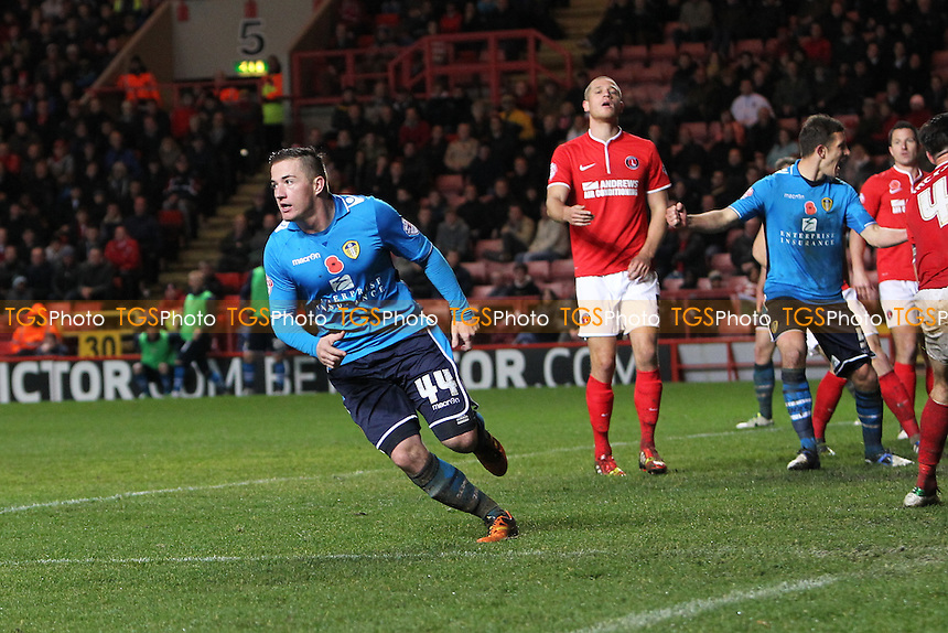 Ross McCormack of Leeds United celebrates - Charlton Athletic vs Leeds United - Sky Bet Championship Football at The Valley, London - 09/11/13 - MANDATORY CREDIT: Simon Roe/TGSPHOTO - Self billing applies where appropriate - 0845 094 6026 - contact@tgsphoto.co.uk - NO UNPAID USE