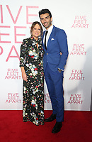 LOS ANGELES, CA - MARCH 7: Cathy Schulman, Justin Baldoni, at The Premiere Of Lionsgate's &quot;Five Feet Apart&quot; at The Fox Bruin Theatre in Los Angeles, California on March 7, 2019. <br /> CAP/MPI/SAD<br /> &copy;SAD/MPI/Capital Pictures