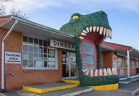 Dinosaur Land gift shop entrance located in White Post, Virginia.