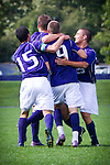Jamie Finch, Brent Richards, Quinton Beasley - UW mens soccer vs UAB.  Photo by Rob Sumner / Red Box Pictures.