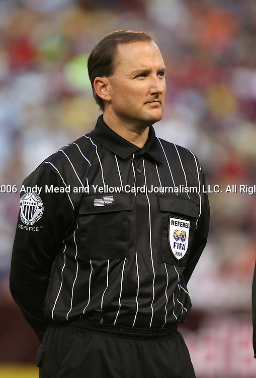 12 August 2006: Match referee Kevin Stott (USA). FC Barcelona from La Liga of Spain defeated the New York Red Bulls of Major League Soccer 4-1 at Giants Stadium in East Rutherford, New Jersey in an international club friendly.