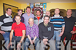 Pictured here at the 7th Annual ACORN Life Singles Darts Tournament held in The Shebeen Bar Cahersiveen on Saturday night, pictured here front l-r; Paul O'Shea, Pa O'Donoghue, Mosey Coffey, back l-r; Drew O'Sullivan, Bernard Kelly, Padraig Fogarty, Richard Quigley, John King O'Shea(2012 Winner), Joe O'Donoghue & D.J.O'Connor.  Paul O'Shea pictured front left was defeated in the final by Mark O'Shea 6-1.