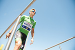 Green Jersey Marcel Kittel (GER) Quick-Step Floors at sign on before Stage 15 of the 104th edition of the Tour de France 2017, running 189.5km from Laissac-Severac l'Eglise to Le Puy-en-Velay, France. 16th July 2017.<br /> Picture: ASO/Pauline Ballet   Cyclefile<br /> <br /> <br /> All photos usage must carry mandatory copyright credit (&copy; Cyclefile   ASO/Pauline Ballet)