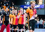 ROTTERDAM  - NK Zaalhockey,   halve finale heren Oranje Rood-SCHC (SCHC wint en plaatst zich voor de finale) . teleurstelling bij Mark Rijkers (Oranje-Rood) en OR.     COPYRIGHT KOEN SUYK