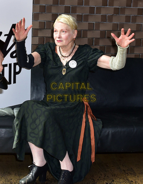 LONDON, ENGLAND - JULY 02: Vivienne Westwood attend the Artists Against TTIP Photocall at the Young Vic Theatre on July 2, 2015 in London, England&hellip;<br /> CAP/JOR<br /> &copy;JOR/Capital Pictures
