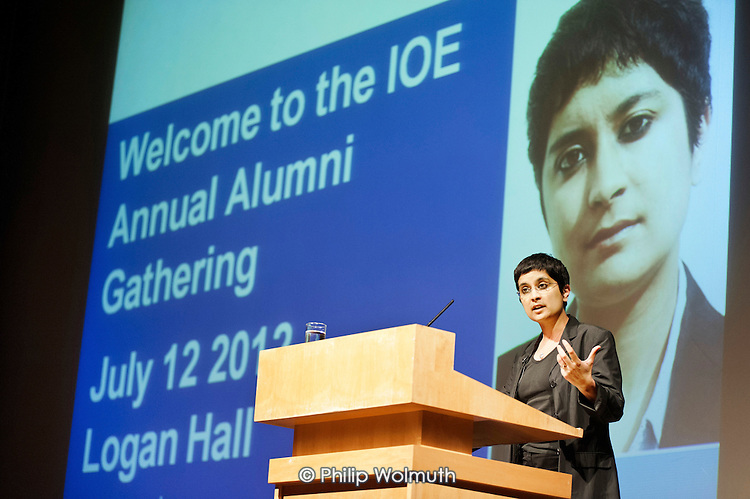 Director of Liberty, Shami Chakrabarti, addresses the Annual Alumni Gathering at the Institute of Education, London.
