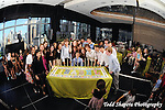 Candle Lighting with elaborate cake made of cupcakes.   Bat Mitzvah at Mandarin Oriental Hotel with view of NYC skyline in background...