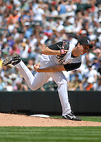 Colorado Rockies pitcher Jeff Francis delivers a pitch against the Minnesota Twins. The Rockies defeated the Twins 6-2 at Coors Field in Denver, Colorado on May 18, 2008. FOR EDITORIAL USE ONLY. FOR EDITORIAL USE ONLY