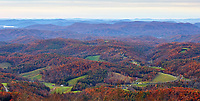 Late autumn view from the Blue Ridge Parkway near Boone