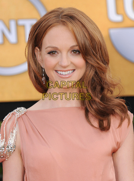 JAYMA MAYS .at the 17th Screen Actors Guild Awards held at The Shrine Auditorium in Los Angeles, California, USA, .January 30th 2011..SAG Sags arrivals portrait headshot smiling peach silver shoulder .CAP/RKE/DVS.©DVS/RockinExposures/Capital Pictures.