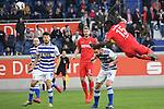 10.04.2019, Schauinsland-Reisen-Arena, Duisburg, GER, 2. FBL, MSV Duisburg vs. 1. FC Koeln,<br />  <br /> DFL regulations prohibit any use of photographs as image sequences and/or quasi-video<br /> <br /> im Bild / picture shows: <br /> Jhon C&oacute;rdoba (FC Koeln #15),   macht das 3:2 per Kopfball <br /> <br /> Foto &copy; nordphoto / Meuter