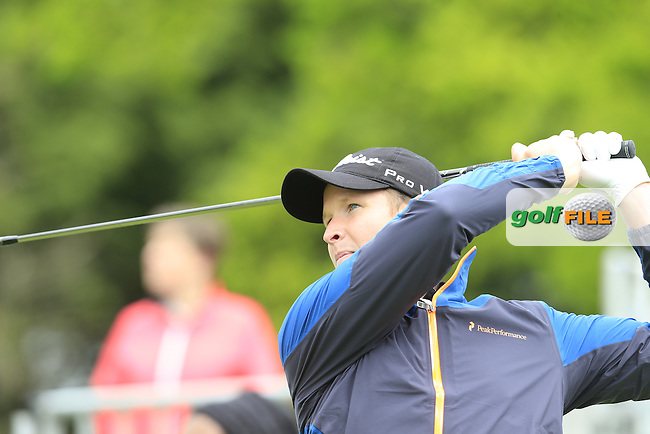 Bjorn Akesson (SWE) tees off the 1st tee during Thursday's Round 1 of the 2016 Dubai Duty Free Irish Open hosted by Rory Foundation held at the K Club, Straffan, Co.Kildare, Ireland. 19th May 2016.<br /> Picture: Eoin Clarke | Golffile<br /> <br /> <br /> All photos usage must carry mandatory copyright credit (&copy; Golffile | Eoin Clarke)