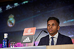 Rodrygo Goes is presented as new player of Real Madrid at Santiago Bernabeu Stadium in Madrid, Spain. June 18, 2019. (ALTERPHOTOS/A. Perez Meca)