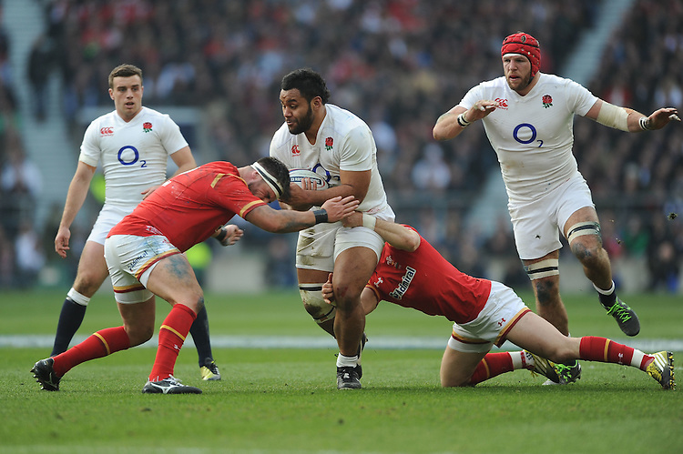 Billy Vunipola of England during the RBS 6 Nations match between England and Wales at Twickenham Stadium on Saturday 12th March 2016 (Photo: Rob Munro/Stewart Communications)