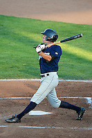 Charlie Markson (8) of the Helena Brewers at bat against the Ogden Raptors at Lindquist Field in Ogden Utah on July 20, 2013.  (Stephen Smith/Four Seam Images)