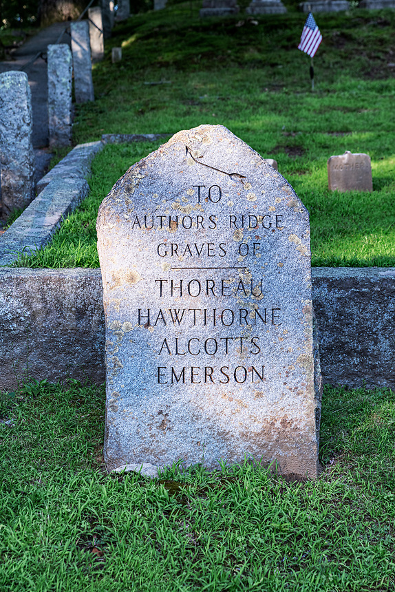 Authors Ridge at Sleepy Hollow Cemetery.