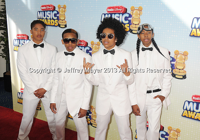 LOS ANGELES, CA- APRIL 27: Singers Mindless Behavior arrives at the 2013 Radio Disney Music Awards at Nokia Theatre L.A. Live on April 27, 2013 in Los Angeles, California.