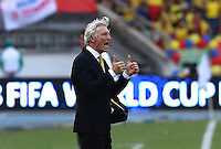 BARRANQUILLA - COLOMBIA -29-03-2016: Jose Pekerman técnico de Colombia durante partido contra de Ecuador de la fecha 6 para la clasificación a la Copa Mundial de la FIFA Rusia 2018 jugado en el estadio Metropolitano Roberto Melendez en Barranquilla./  Jose Pekerman coach of Colombia during match against Ecuador of the date 6 for the qualifier to FIFA World Cup Russia 2018 played at Metropolitan stadium Roberto Melendez in Barranquilla. Photo: VizzorImage / Ivan Valencia / Cont