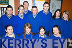 JUNIOR CERT: Anxiously awaiting their Junior Cert results at Presentation Secondary School on Wednesday morning were, front l-r: Marguerite O'Sullivan, Catherina McCarthy, Aisling McKenna, Laura O'Sullivan. Back l-r: Stephen Roche, Eoin Moriarty, Ferghal Clifford, David Murphy, Killian O'Dowd, Ciara Cronin and Amy O'Sullivan.   Copyright Kerry's Eye 2008
