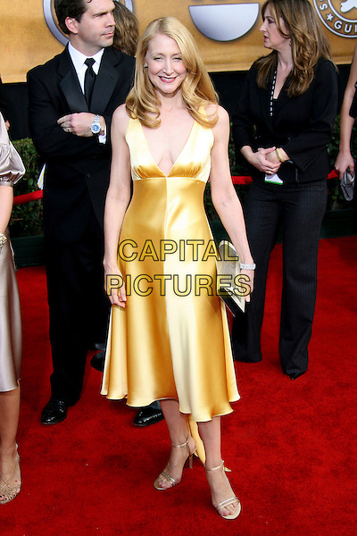 PATRICIA CLARKSON.12th Annual Screen Actors Guild Awards (SAG) held at the Shrine Auditorium, Los Angeles, California, USA.  .January 29th, 2006.Photo: Zach Lipp/AdMedia/Capital Pictures.Ref: ZL/ADM.full length yellow dress .www.capitalpictures.com.sales@capitalpictures.com.© Capital Pictures.