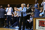 24 January 2016: UNC head coach Sylvia Hatchell. The Duke University Blue Devils hosted the University of North Carolina Tar Heels at Cameron Indoor Stadium in Durham, North Carolina in a 2015-16 NCAA Division I Women's Basketball game. Duke won the game 71-55.