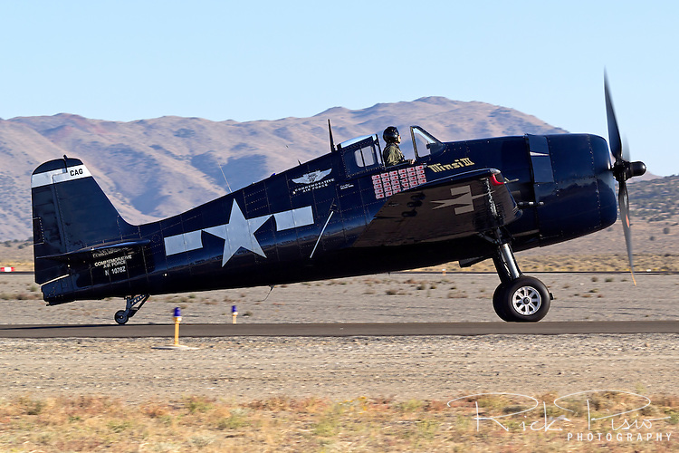 Grumman F6F Hellcat taxiing. The Hellcat first saw action against the Japanese on 1 September 1943 and through the end of the war 62,386 sorties were flown from aircraft carriers which resulted in 5,163 destroyed enemy aircrat(56% of all Naval/Marine air victories of the war) at a cost of 270 Hellcats (an overall kill-to-loss ratio of 19:1).