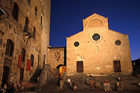 Evening at the Duomo in San Gimignano Italy