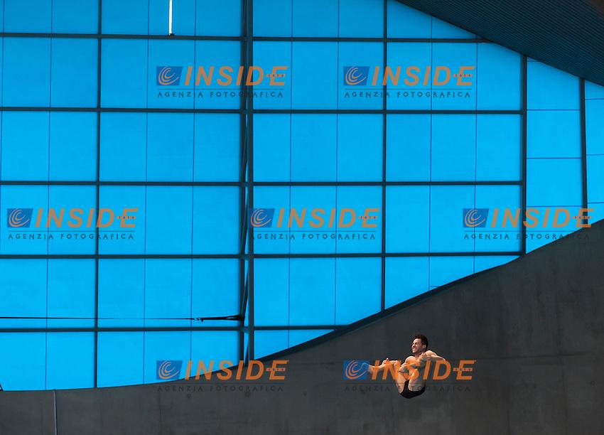 BLAHA Constantin AUT<br /> London, Queen Elizabeth II Olympic Park Pool <br /> LEN 2016 European Aquatics Elite Championships <br /> Diving<br /> Men's 3m springboard preliminary <br /> Day 04 12-05-2016<br /> Photo Giorgio Perottino/Deepbluemedia/Insidefoto
