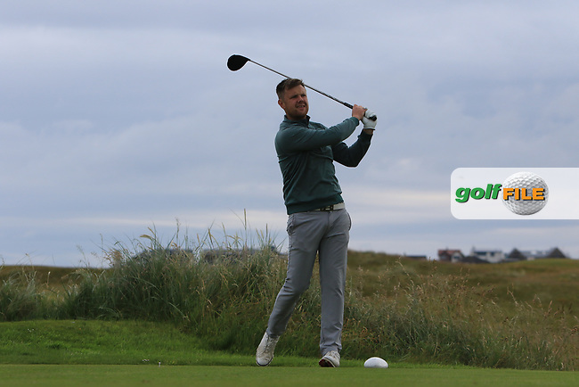 Stephen Barker during Round 2 of the North of Ireland Amateur Open Championship 2019 at Portstewart Golf Club, Portstewart, Co. Antrim on Tuesday 9th July 2019.<br /> Picture:  Thos Caffrey / Golffile<br /> <br /> All photos usage must carry mandatory copyright credit (© Golffile | Thos Caffrey)